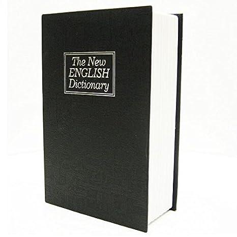 Homesafe Booksafe Dictionary Metal Cash Box Security Safe Black Extra Large 265x200x65mm