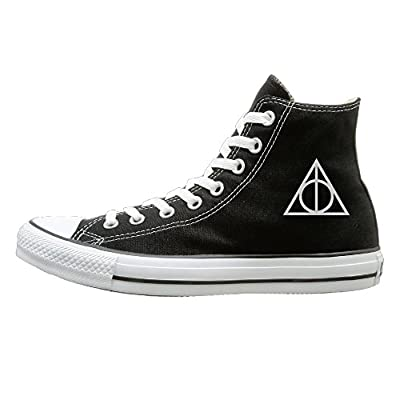 Jajade Men & Women Harry Potter And The Deathly Hallows High Top Sneakers Canvas Shoes Cool Sport Shoes Fashion Black