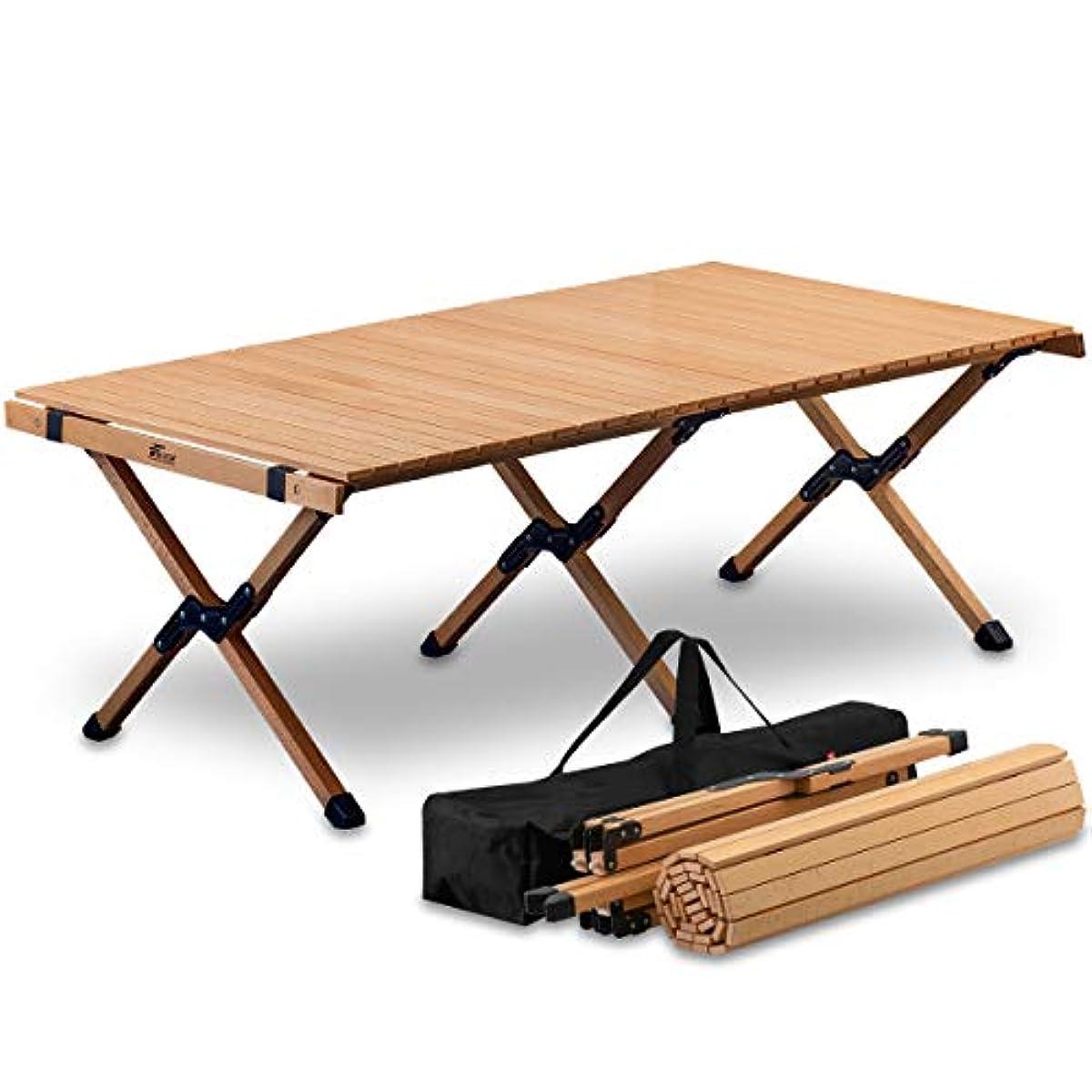 [해외] FIELDOOR 접이식 우드 롤 테이블 120cm