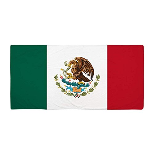 Mexican FlagLarge Beach Towel, Soft 31''x51'' Towel with Unique Design by Dongxu