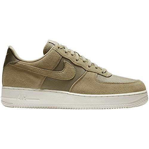 - Nike Mens Air Force 1 07 Suede Textile Parachute Beige Pale Ivory Trainers 11 US