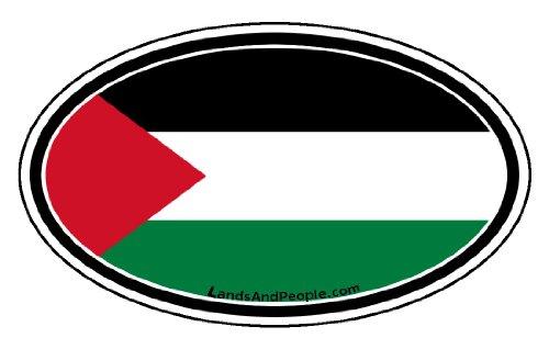 Palestine Palestinian Flag Car Bumper Sticker Decal Oval