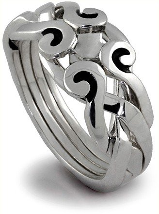 Claddagh Puzzle Ring (Sterling Silver Puzzle Ring 4ANS - Size: 9.5)