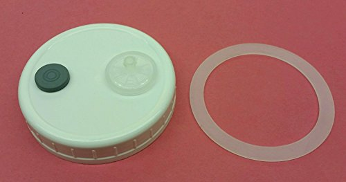 10 Pack Liquid Culture Autoclavable Plastic Wide Mouth Jar Lids Gasket Mushroom Lab