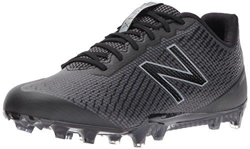 New Balance Men's BURN Low Speed Lacrosse Shoe, Black, 10.5 D US