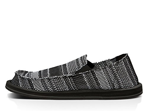 Mens Loafer Knit Yew White Black Sanuk zZ8xOpw