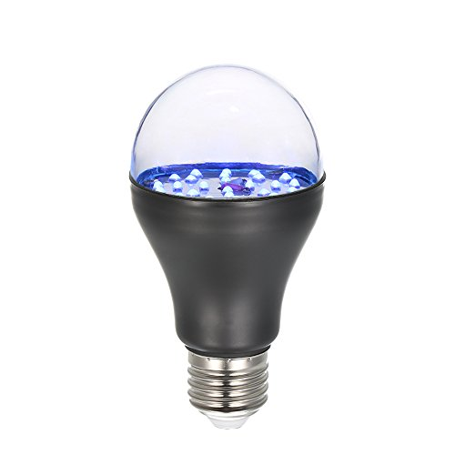 Lixada 7W 25 LED 365nm UV Light Bulb AC100V-240V A19 Ultraviolet Blacklight with E27 Lamp Base for Sterilization Attracting Insects Monetary Validation Identify Fluorescent Dyes