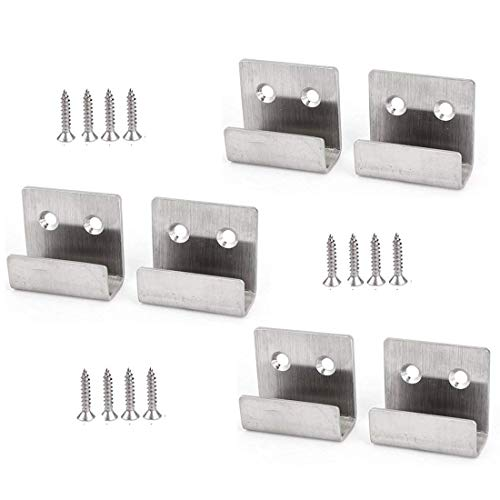 Rannb Stainless Steel Wall Hanger Fastener Bracket for Ceramic Tile Display- Pack of 6