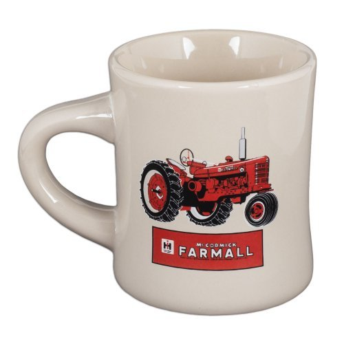 Stoneware Diner Mug by McCormick Farmall (White - Red Tractor) from Farmall