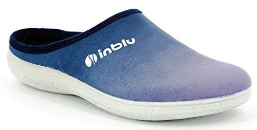 Inblu pantofole ciabatte invernali da donna art. BS-29 blu NUOVO