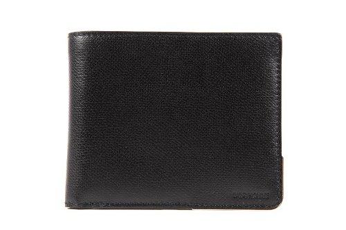 Dior los hombres de piel de la cartera billetera nuevo negro ...