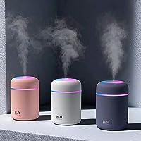 Led Işıklı Mini Ortam Oda Hava Nemlendirici Buhar Makinesi Ve Aromaterapi Aroma Difüzörü (Beyaz)