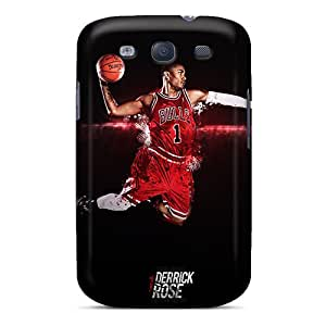Great Cell-phone Hard Cover For Samsung Galaxy S3 With Provide Private Custom Realistic Derrick Rose Pictures AlissaDubois