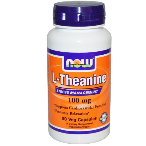 NOW Foods L theanine Capsules Packaing