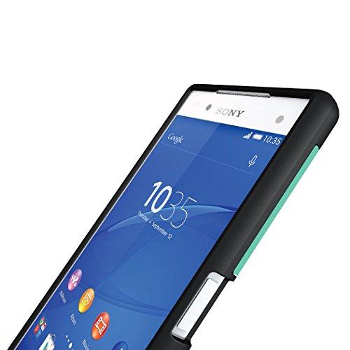 Sony Xperia Z5 Premium Funda, Caja protectora TUDIA Slim-Fit MERGE de doble capa para Sony Xperia Z5 Premium (Grafito) Menta
