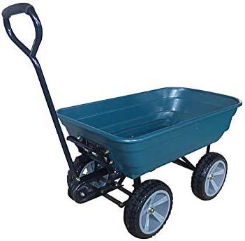 ZEESTORE Carro de Jardín, Remolque de Polipropileno, Carga Máxima de 200 kg - Azul: Amazon.es: Jardín