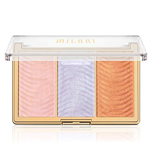 Milani Stellar Lights Highlighter Palette – Holographic Beams (.42 Ounce) 3 Vegan, Cruelty-Free Face Powders that Contour & Highlight for a Glowing Look