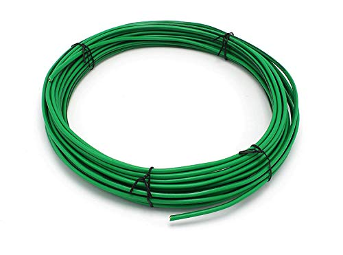 THE CIMPLE CO - Solid Copper Grounding Wire | Proudly Made in America | Ground Protection Satellite Dish Off-Air TV Signal | UV Jacketed Antenna Electrical Shock # 10 Gauge AWG THHN | Green 25 FT