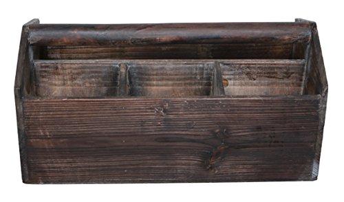 Wooden Caddy - Cheung's FP-3150 Wooden Garden Storage Caddy, Brown