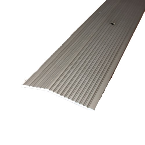 M-D Building Products 43858 M-D Extra Wide Fluted Carpet Trim, 2 in W X 36 in L X 0.3 in H, Pewter, Pack of 1,