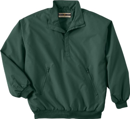 North End Mens MICRO Plus 1/2-Zip Windshirt with Teflon. 88012 - Large - Alpine Green