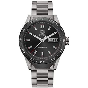TAG Heuer CONNECTED Luxury Smart Watch (Compatible with Android/iPhone) (Titanium Metal)