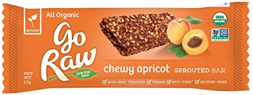 Go Raw Real Live Apricot Bar, 10 - 12 gram Bars