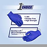 1st Choice Exam Indigo Nitrile Gloves, 4 Mil, Latex