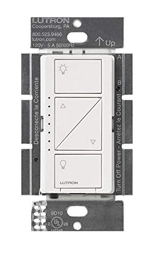 (Lutron PD-6WCL-WH-R Caseta Wireless 150-Watt Multi-Location In-Wall Dimmer, White)