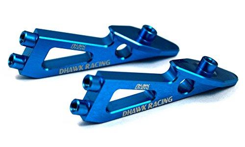 Racing Rear Wing (Dhawk Racing Aluminum Rear Wing Mount Blue For Team Associated RC10 B6 B6D)