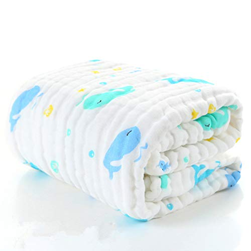 Baby Swaddle Blanke Unisex Swaddle Wrap Soft Silky Bamboo Muslin Swaddle Blanket Neutral Receiving Blanket for Boys and Girls, 6 Layer Lightweight and Breathable,Large 47 x 47 inches - Receiving Layer Blanket