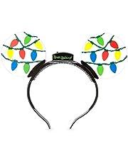 Disney Parks Mickey Mouse Holiday Animated Glow Light-up Ears Headband