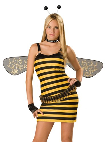 In Character Killer Bee TEEN Bumblebee Halloween Costume JR sz 1-3