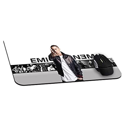 Office Rectangle Mouse Pad with Eminem Cool Music Image Cloth Cover Non-Slip Rubber Backing-Gaming Mousepad(8.7x7.1x0.12 Inch)
