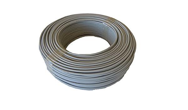 Cable FLEXIBLE Libre de Halógenos H07Z1-K(AS) 1 x 1,5 mm² 100 m (Gris): Amazon.es: Bricolaje y herramientas