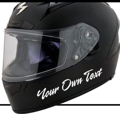 Wunschtext Helm Motorrad Motorradhelm Aufkleber Decal Sticker Scheibe Lack Tuning Autoaufkleber Hochleistungsfolie Von Myrockshirt Estrellina Glücksstern Auto