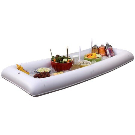 Inflatable Salad Serving Bar - Buffet Drink Party Bar With Drain Plug - White 54