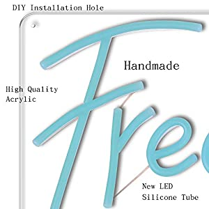 Freedom LED Neon Sign Lights Art Wall Decorative Lights (Ice Blue)