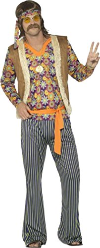 60s Singer Costume, Male, With Top, Waistcoat Large (chest 42