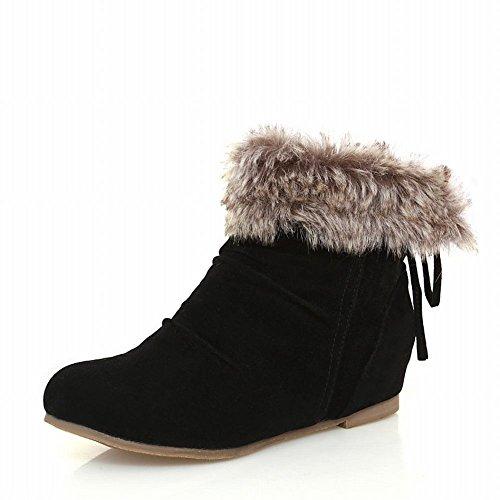 Shoes Con Carol Tacco Da Scarponi Nascosto Neve Donna Occidentali Concisi Neri fIwdw6rqnx