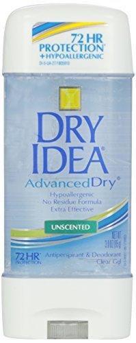 Dry Idea Advanced Dry Unscented Antiperspirant & Deodorant Clear Gel 3 OZ - Buy Packs and SAVE (Pack of 2)