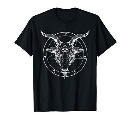 Pentagram Tshirt - Baphomet Satanist Goat Tee - Stay Weird ()