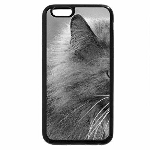 iPhone 6S Plus Case, iPhone 6 Plus Case (Black & White) - Cat