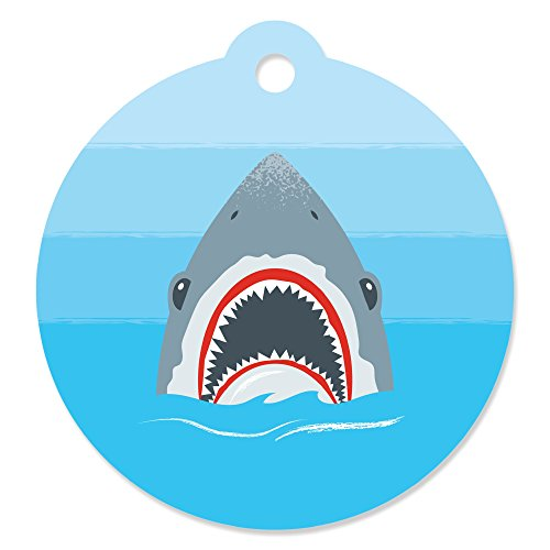 Shark Zone - Jawsome Shark Party or Birthday Party Favor Gift Tags (Set of 20)