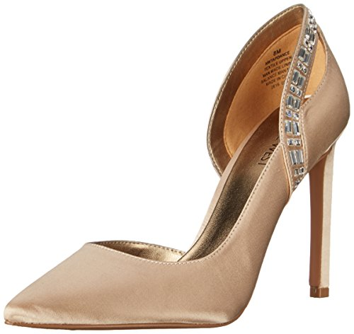 Nine West Women's Tapdance Satin Dress Pump, Light Gold, 8 M US - Nine West Satin Shoes