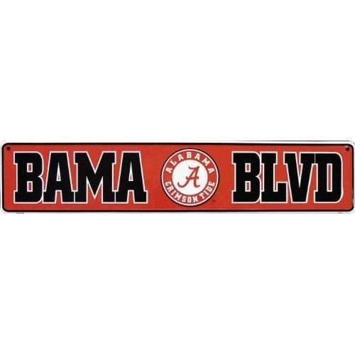 Alabama Crimson Tide BAMA BLVD Metal Street Sign (24