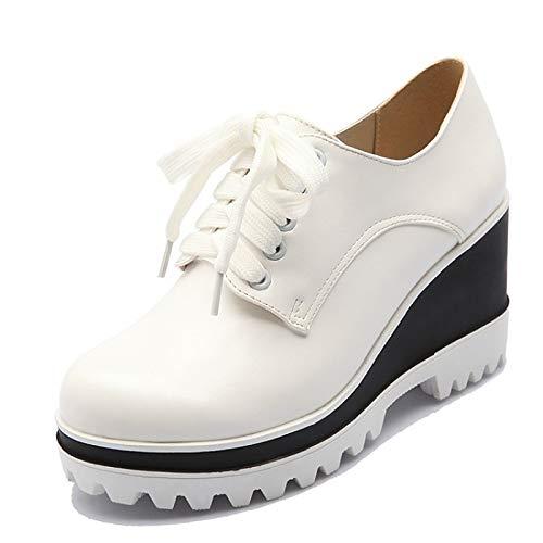 poliuretano Black PU Bianco Autunno donna Nero ZHZNVX Comfort Sneakers da Rosso Scarpe Creepers xwIqFBU