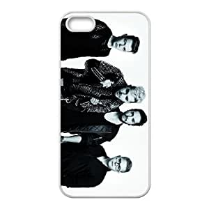 Protective TPU cover case Tokio Hotel iPhone 4 4s Cell Phone Case White
