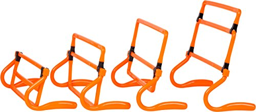Trademark Innovations Adjustable Speed Training Hurdles (Set of 5), Orange
