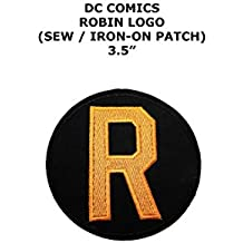 "Outlander Gear DC Comics Robin Classic Logo 4"" Embroidered Iron/Sew-on Applique Patches"